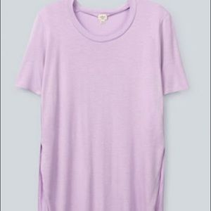 Aritzia Wilfred lilac slit side tee tshirt purple